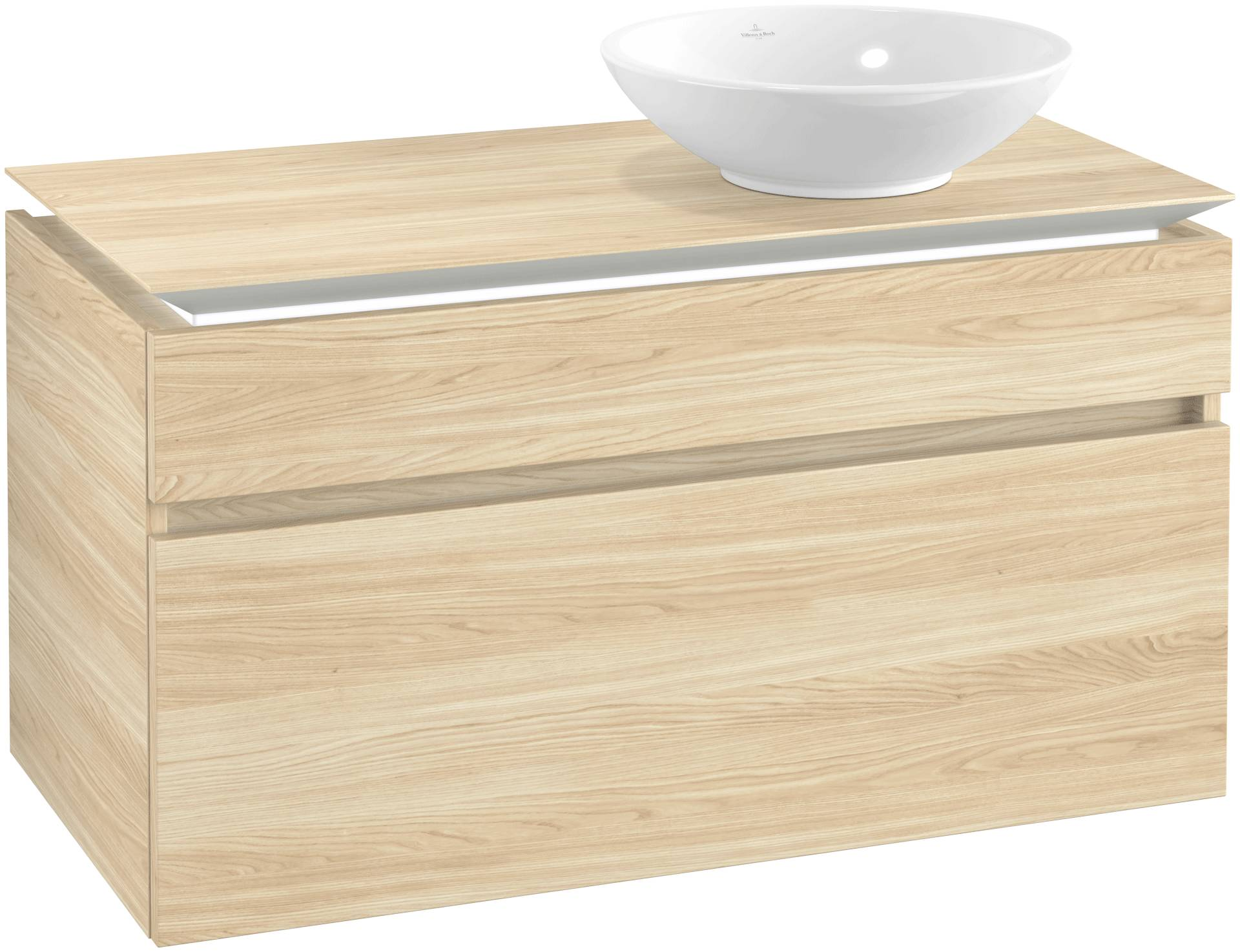 Villeroy & Boch Villeroy & Boch Legato - Meuble sous lavabo with 2 drawers & 1 cut-out right 1000 x 550 x 500mm orme impresso