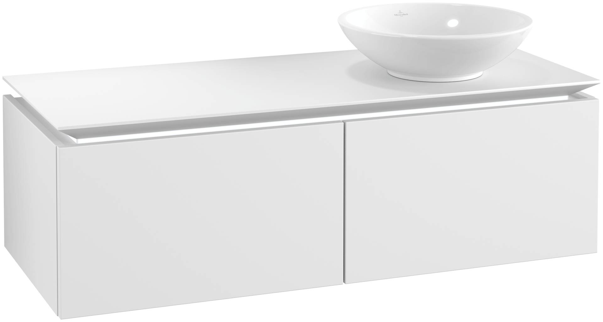 Villeroy & Boch Villeroy & Boch Legato - Meuble sous lavabo with 2 drawers & 1 cut-out right 1200 x 380 x 500mm blanc mat