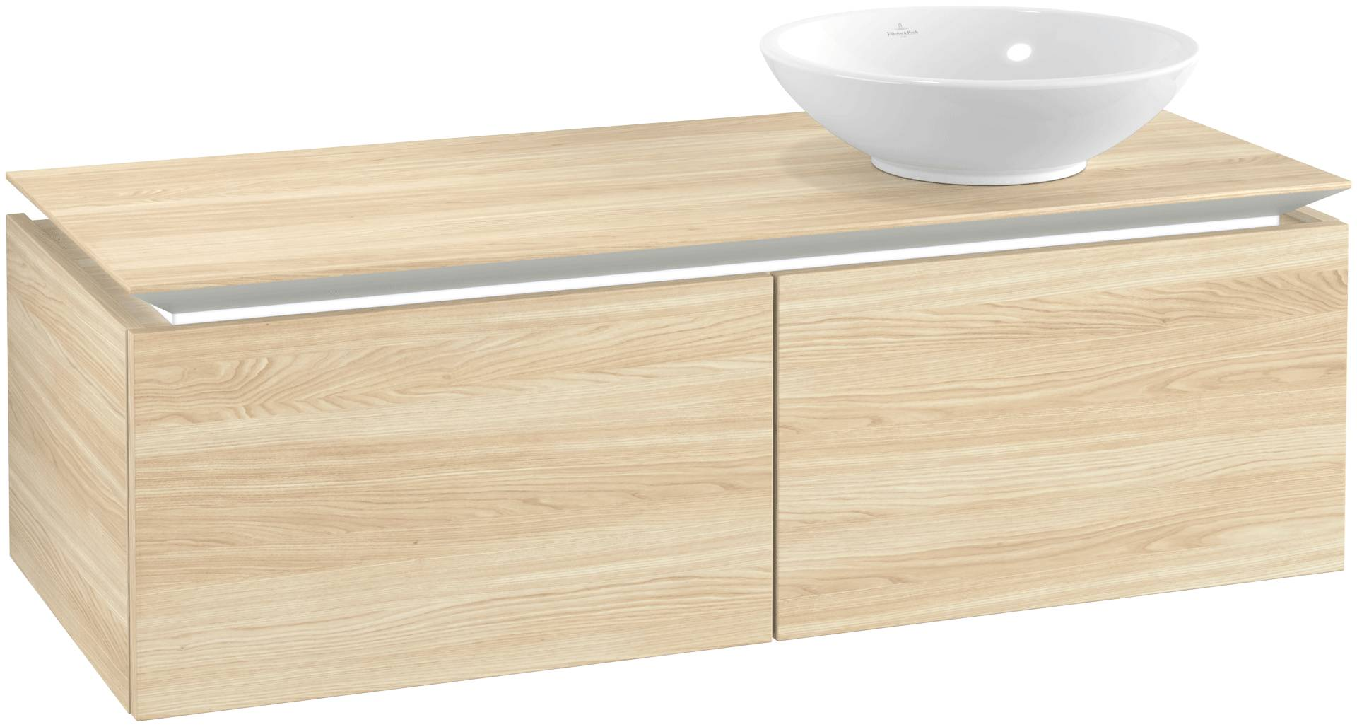 Villeroy & Boch Villeroy & Boch Legato - Meuble sous lavabo with 2 drawers & 1 cut-out right 1200 x 380 x 500mm orme impresso