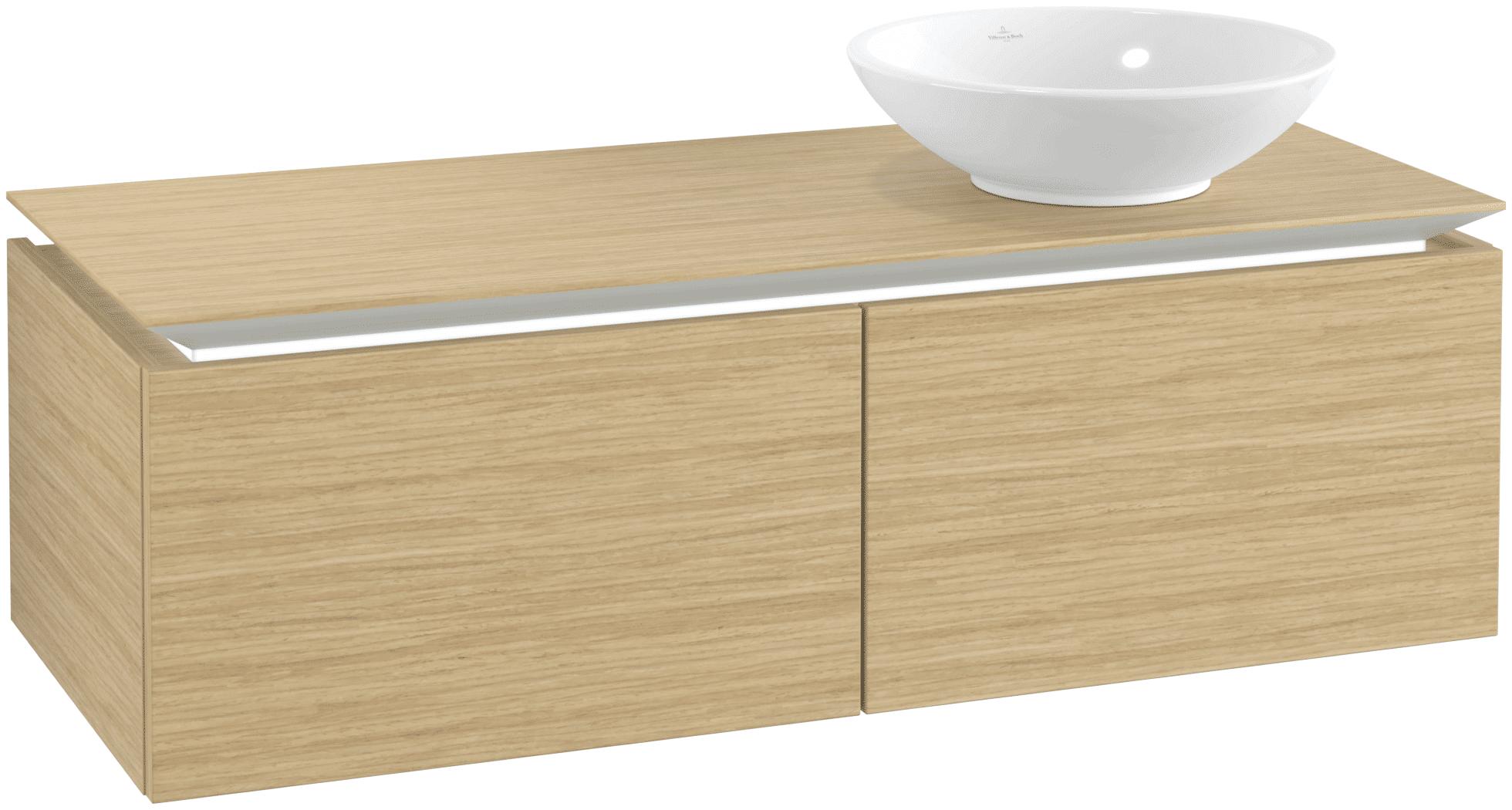 Villeroy & Boch Villeroy & Boch Legato - Meuble sous lavabo with 2 drawers & 1 cut-out right 1200 x 380 x 500mm nordic oak
