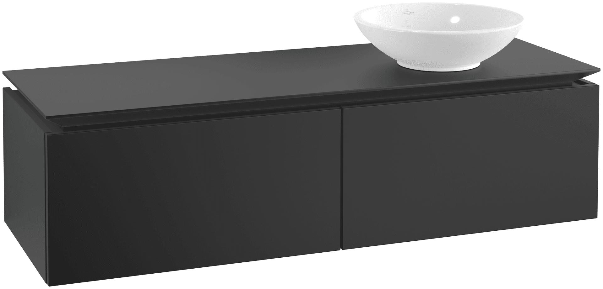 Villeroy & Boch Villeroy & Boch Legato - Meuble sous lavabo with 2 drawers & 1 cut-out right 1400 x 380 x 500mm noir mat