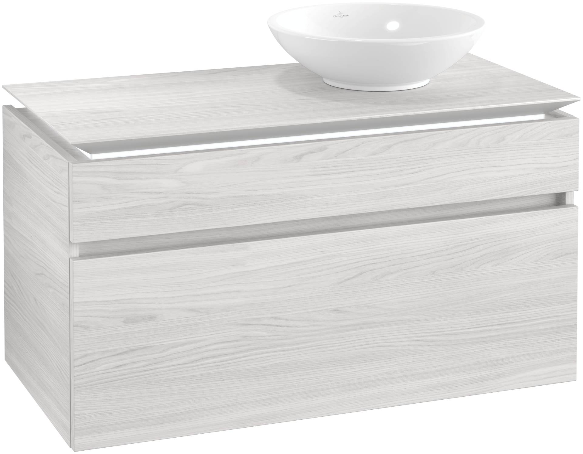 Villeroy & Boch Villeroy & Boch Legato - Meuble sous lavabo with 2 drawers & 1 cut-out right 1000 x 550 x 500mm bois blanc