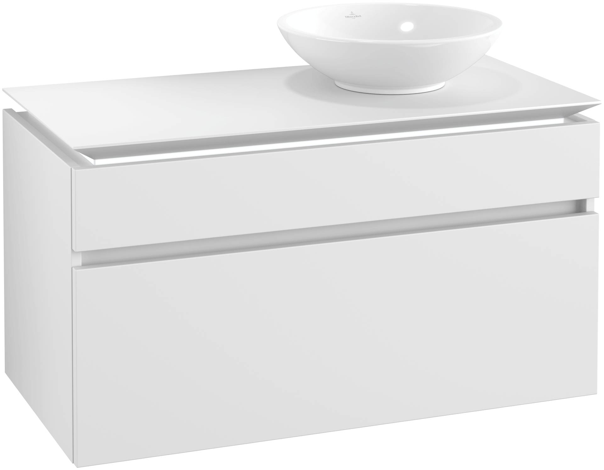 Villeroy & Boch Villeroy & Boch Legato - Meuble sous lavabo with 2 drawers & 1 cut-out right 1000 x 550 x 500mm blanc mat