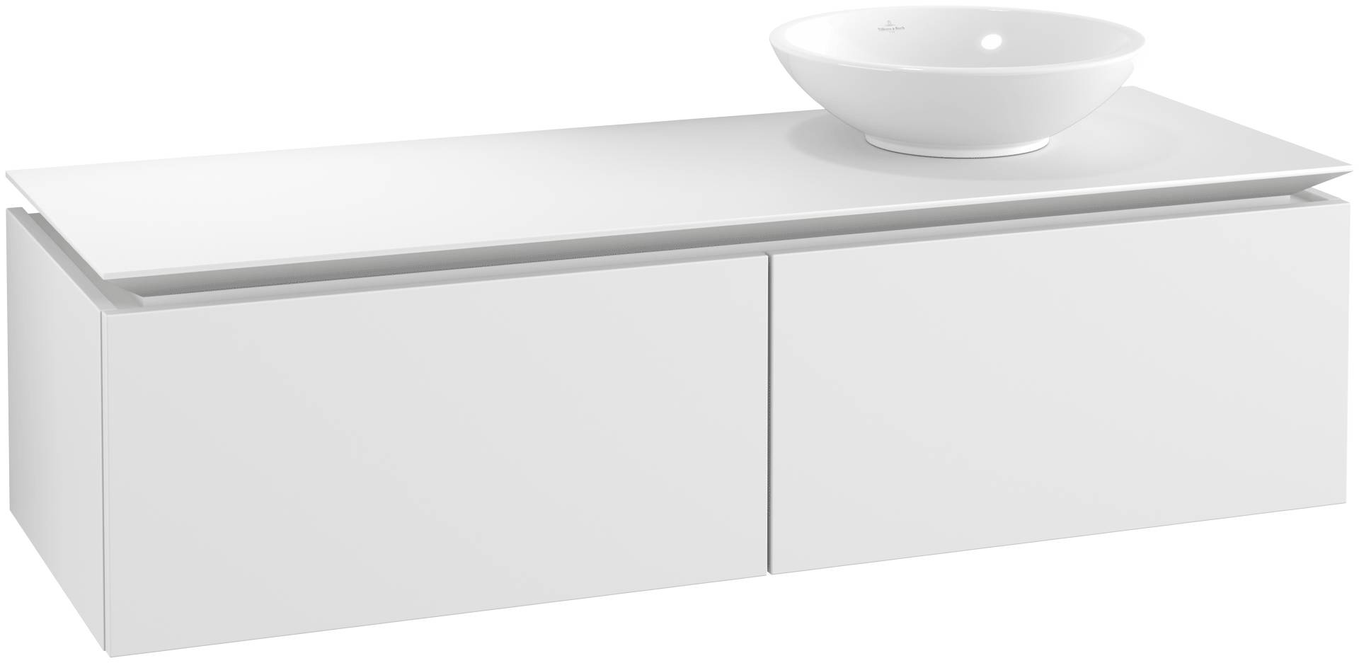 Villeroy & Boch Villeroy & Boch Legato - Meuble sous lavabo with 2 drawers & 1 cut-out right 1400 x 380 x 500mm blanc mat