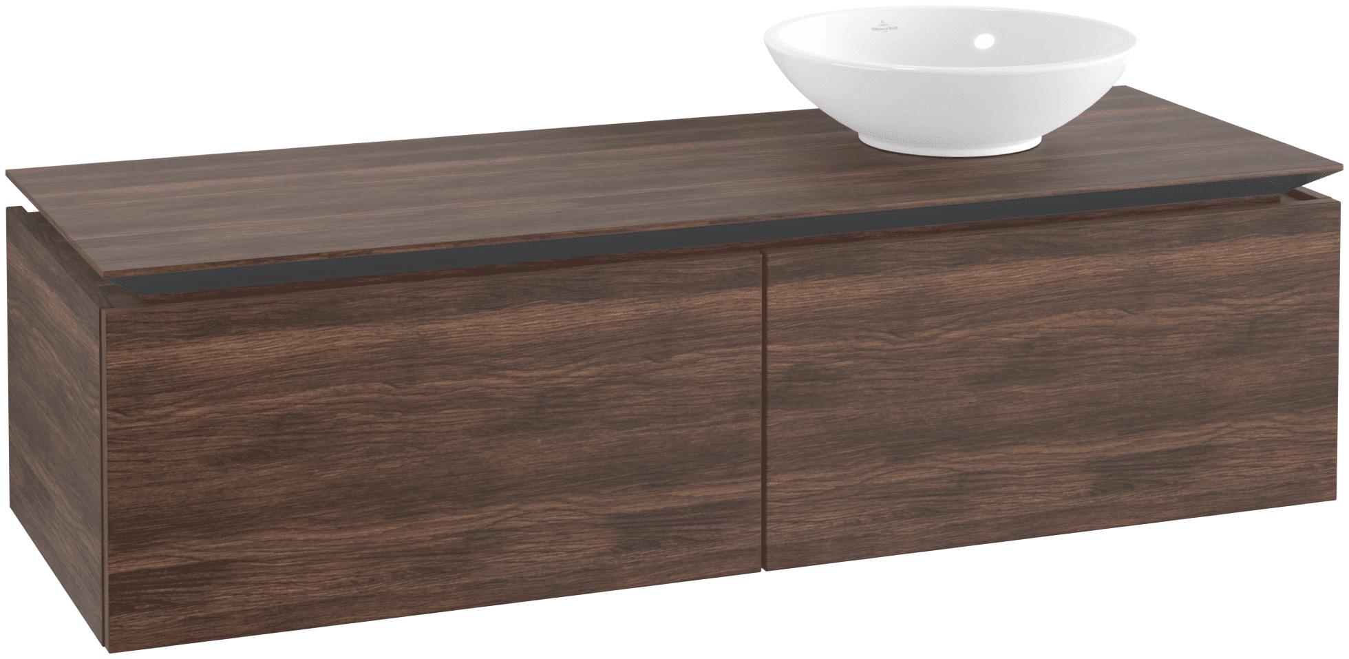 Villeroy & Boch Villeroy & Boch Legato - Meuble sous lavabo with 2 drawers & 1 cut-out right 1400 x 380 x 500mm arizona oak