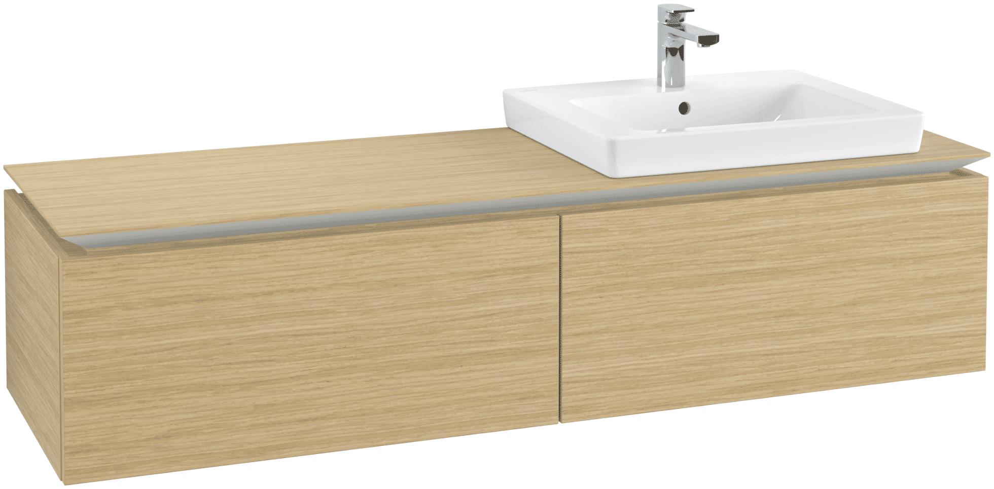 Villeroy & Boch Villeroy & Boch Legato - Meuble sous lavabo with 2 drawers & 1 cut-out right 1600 x 380 x 500mm nordic oak