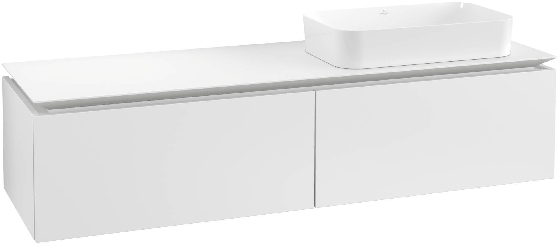Villeroy & Boch Villeroy & Boch Legato - Meuble sous lavabo with 2 drawers & 1 cut-out right 1600 x 380 x 500mm blanc mat