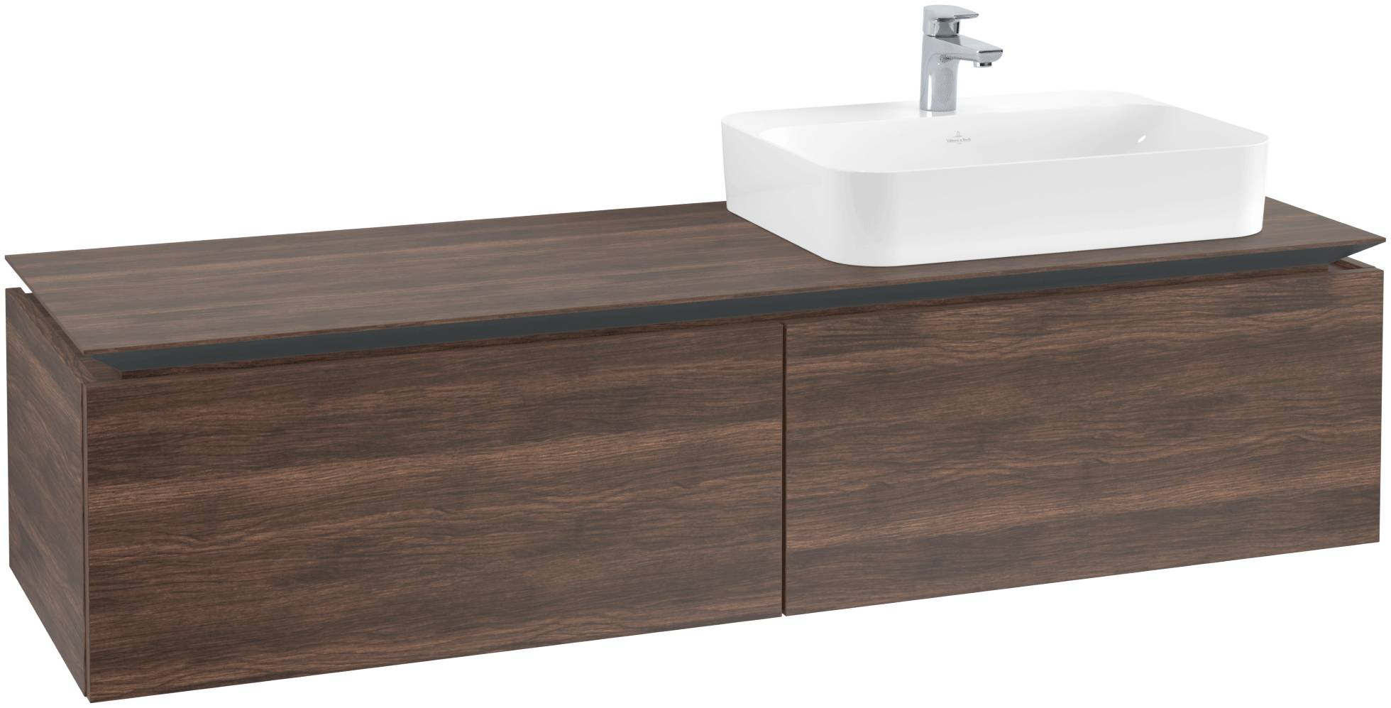 Villeroy & Boch Villeroy & Boch Legato - Meuble sous lavabo with 2 drawers & 1 cut-out right 1600 x 380 x 500mm arizona oak