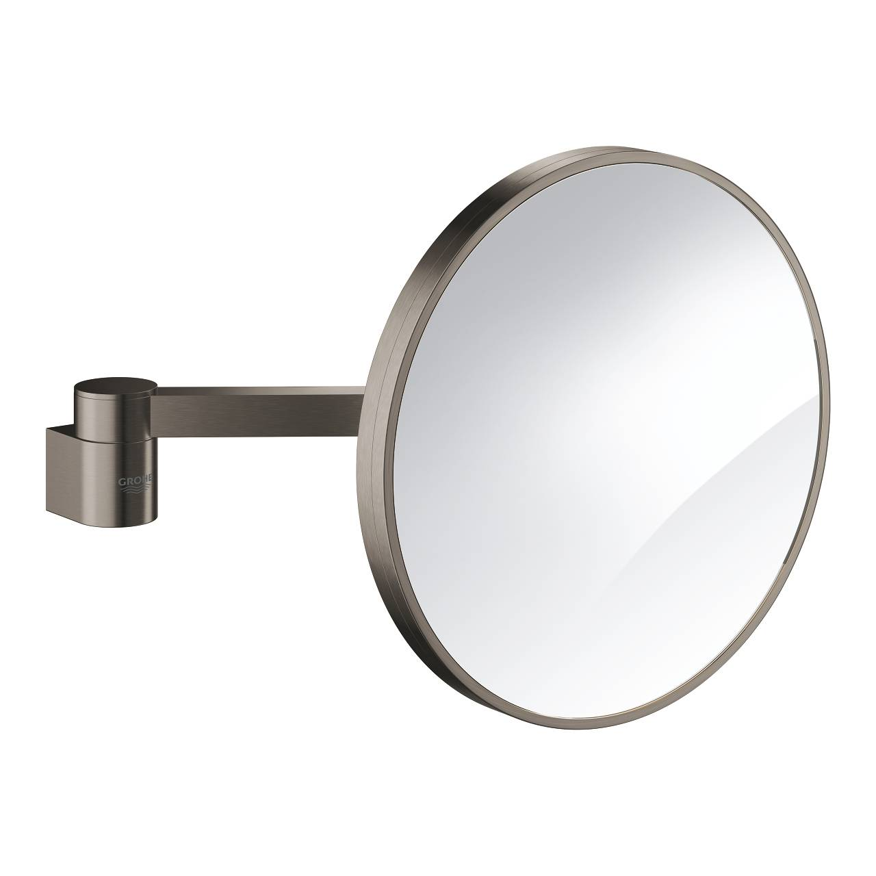 Grohe Selection - Miroir cosmétique mirrored / brushed hard graphite