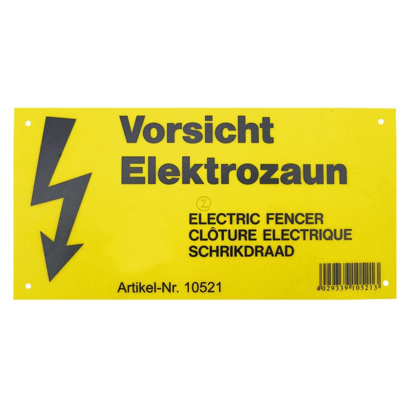 Panneau d'avertissement   Imposé sur tous les chemins publicsoù est située une clôture électrique