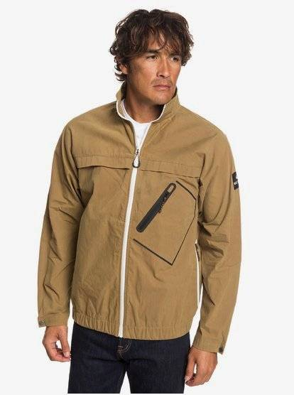 Quiksilver Waterman Good Weather - Veste coupe-vent cirée pour Homme - Marron - Quiksilver