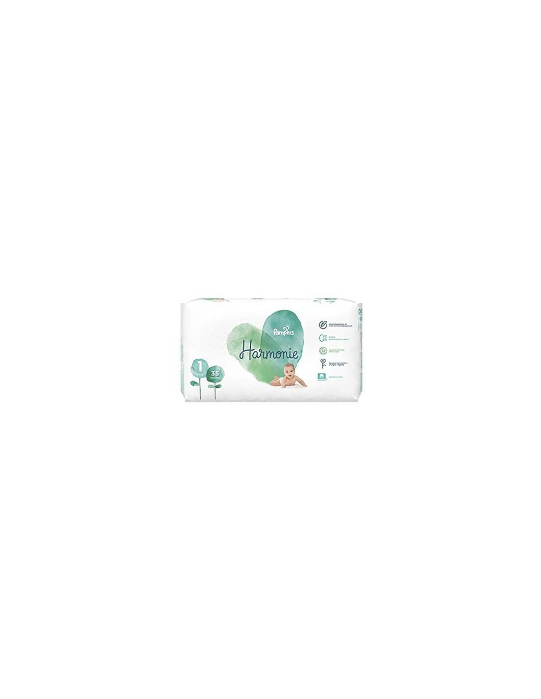 PAMPERS Couches HARMONIE Taille 1 Pack 35 2-5kg