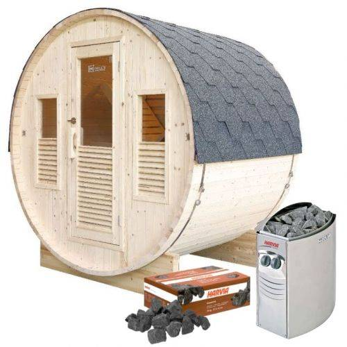 Holl's Pack sauna Gaïa Bella + poêle Harvia Vega 8 kW + pierres de lave
