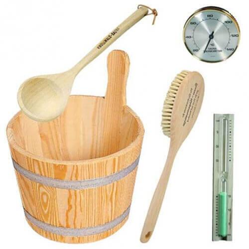 Mypiscine Pack d'accessoires en bois pour sauna