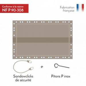 APF Couvertude d'hivernage de sécurité Naxos Safe 10x4,5m Couleur Ve - Publicité