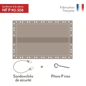 APF Couvertude d'hivernage de sécurité Naxos Safe 8x4m Couleur Gris - Publicité