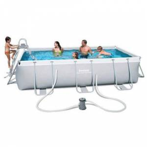 Bestway Piscine tubulaire 404 x 201 x H100 cm - Power Steel