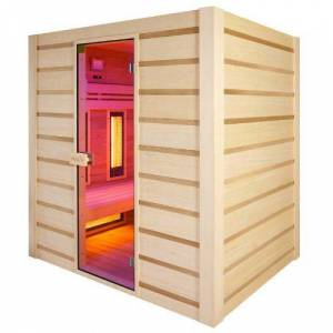 Holl's Sauna Hybride Combi 4 places (Infrarouge + vapeur) - Publicité