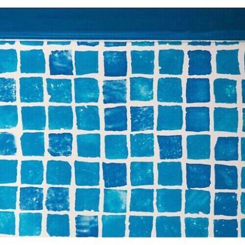 GRE Liner piscine Gré ovale 730 x 375 x H.132 cm - Mosaïque