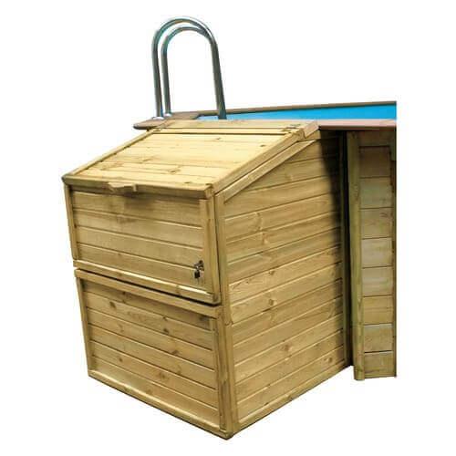 Sunbay Coffre de filtration en bois H133 cm avec serrure à clé