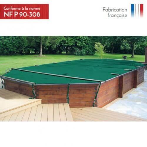 APF Couverture à barres 4 saisons Woody piscine hors-sol