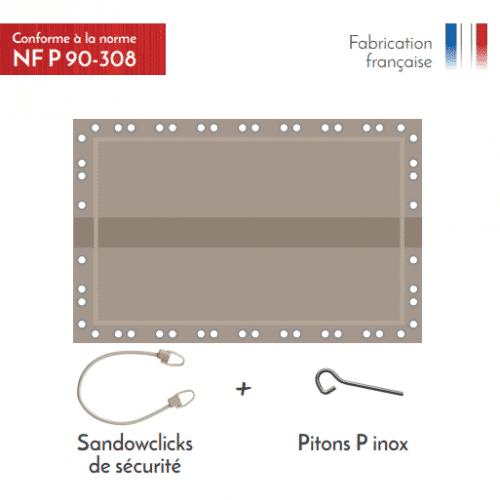 APF Couvertude d'hivernage de sécurité Naxos Safe 8x4,5m Couleur Ble