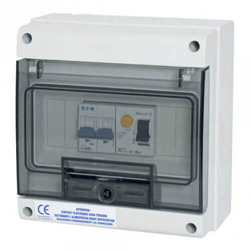 Wa Conception Coffret de protection 32 A Monophasé pour pompe à chaleur de piscine