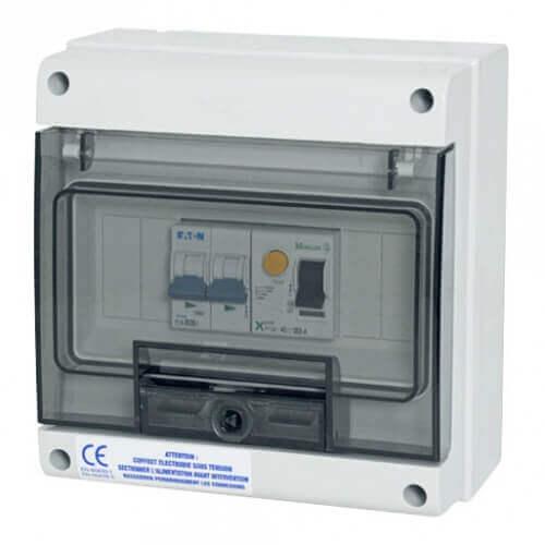 Wa Conception Coffret de protection 40 A Monophasé pour pompe à chaleur de piscine