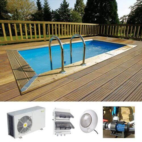 Ubbink Piscine bois Linéa Urban Pool 250 x 450 x H 140 cm