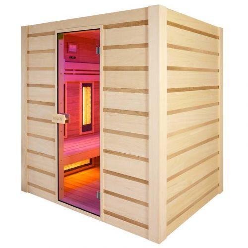 Holl's Sauna Hybride Combi 4 places (Infrarouge + vapeur)