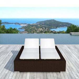 Delorm Design Bain de soleil double en résine tressée Chocolat - DARWIN - Publicité