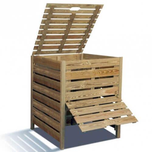 Jardipolys Composteur en bois 800 litres