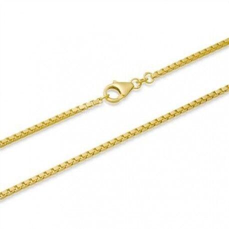 UrbanBijoux Chaine collier pour homme plaqué or maille venitienne 50cm 4mm