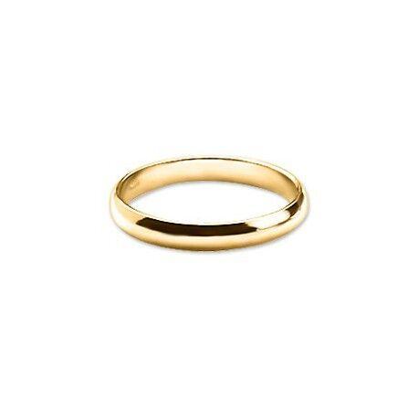 UrbanBijoux Bague anneau alliance mariage de fiançaille homme femme plaqué or 4mm Taille ∅ - 67