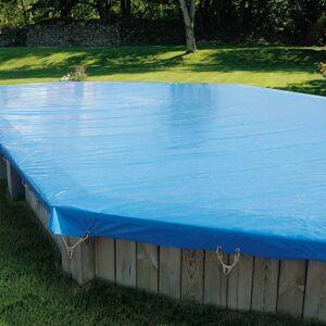 Sunbay Bâche d'hivernage pour piscine bois Sunbay octogonale allongée Modèle - Sevilla 8,72 x 4,72m octogonale allongée - Publicité
