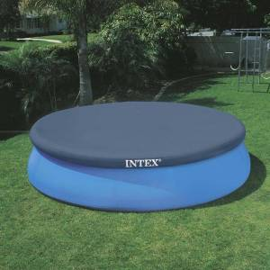 Intex Bâche de protection pour piscine Intex autoportante ronde Modèle - Piscine diamètre 3,66m - Publicité