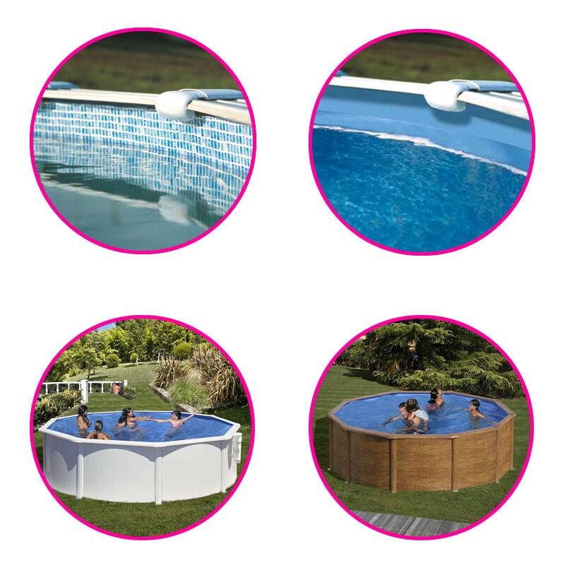 Gré Liner pour piscine acier Gré ronde Dimension - 2,40 x h1,20m, Coloris - Bleu uni