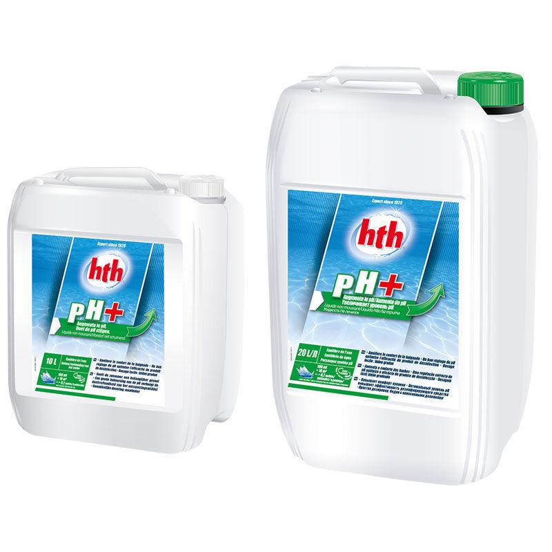 HTH pH plus liquide Quantité - 40 L (2 bidons de 20 L)