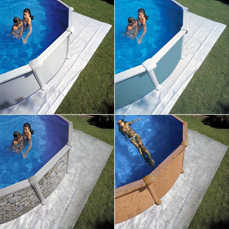 Gré Tapis de sol pour piscine Gré Dimension - 6,50 x 6,50m