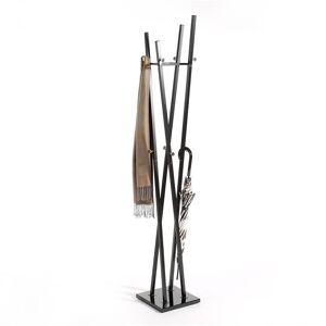 IDIMEX Porte-manteaux VITUS, en métal laqué noir - Publicité