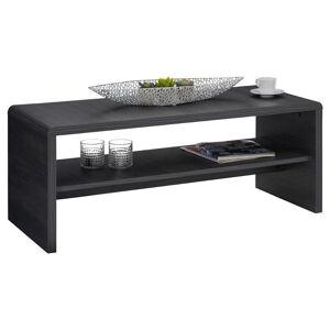 IDIMEX Table basse / Meuble TV LOUNA, en mélaminé décor gris cendré - Publicité