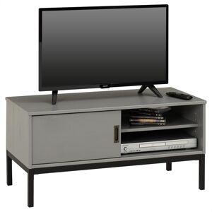 IDIMEX Meuble TV SELMA, 1 porte coulissante, lasuré gris - Publicité