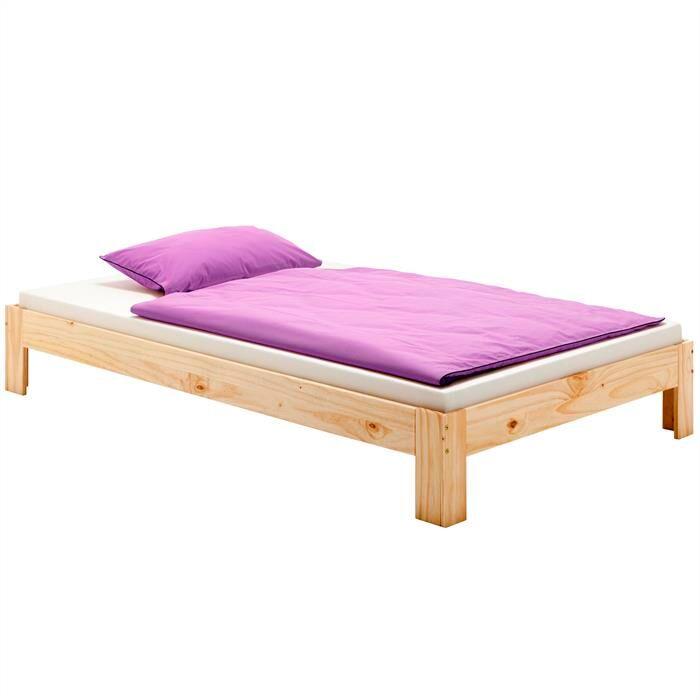 IDIMEX Lit futon THOMAS, en pin massif, 90 x 190 cm, vernis naturel