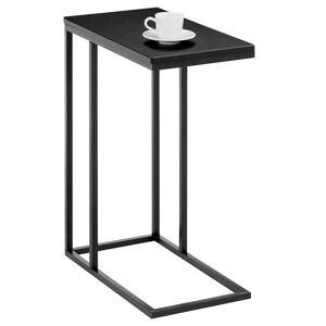 IDIMEX Table d'appoint rectangulaire DEBORA, en métal noir et décor noir mat - Publicité