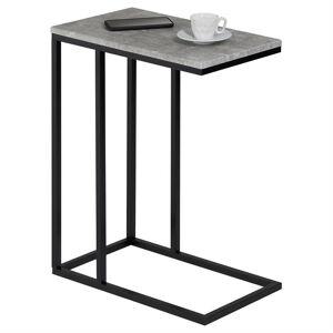 IDIMEX Table d'appoint rectangulaire DEBORA, en métal noir et décor béton - Publicité