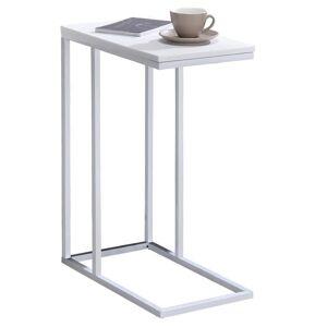 IDIMEX Table d'appoint rectangulaire DEBORA, en métal blanc et décor blanc mat - Publicité