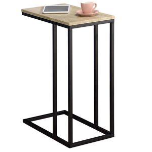 IDIMEX Table d'appoint rectangulaire DEBORA, en métal noir et décor chêne sonoma - Publicité