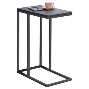 IDIMEX Table d'appoint rectangulaire DEBORA, en métal gris et décor gris mat - Publicité