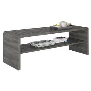 IDIMEX Table basse / Meuble TV NOELLE, en mélaminé décor gris cendré - Publicité