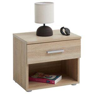 IDIMEX Table de chevet MAEL, en mélaminé décor chêne sonoma - Publicité